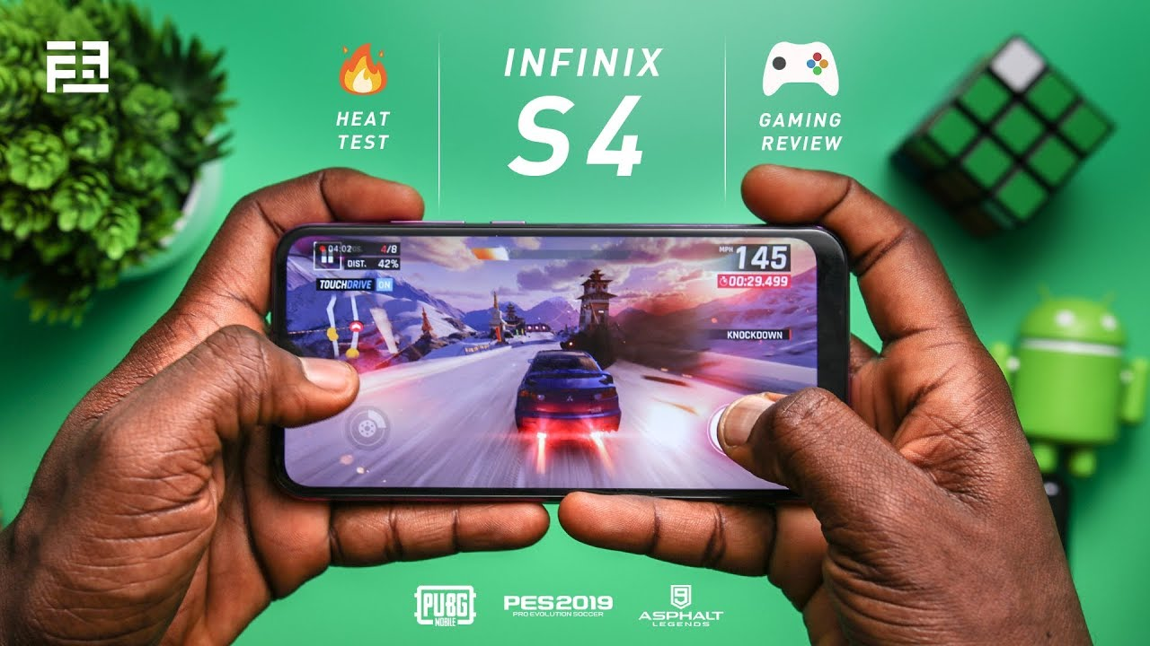 Infinix S4 Detailed Gaming Review (PUBG, Asphalt 9 & PES 2019) + Battery & Heat Test