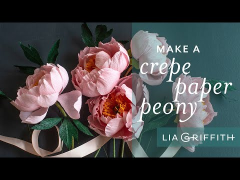 Crepe Paper Coral Charm Peony: How to Make Paper Peony Flower