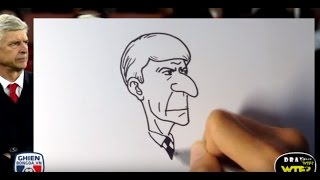 Draw WTF - How to draw Arsene Wenger (Arsenal)? Step by step
