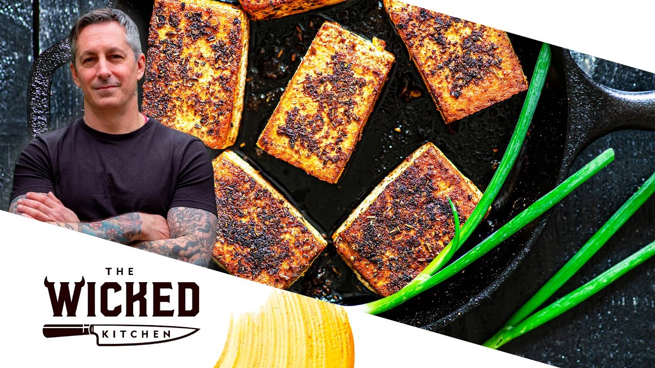 BBQ Tofu & Polenta - Easy Vegan Recipe! | The Wicked Kitchen