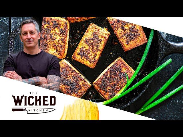 BBQ Tofu & Polenta - Easy Vegan Recipe! | The Wicked Kitchen