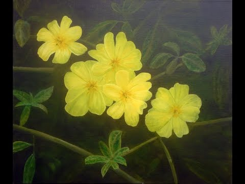 Yellow flower time lapse oil painting by australian artist garry yellow flower time lapse oil painting by australian artist garry purcell mightylinksfo