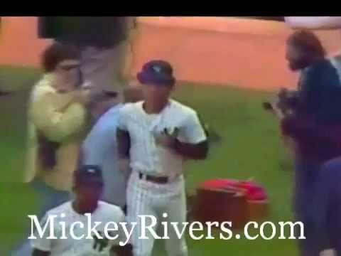 Mickey Rivers Yankee Debut In Yankee Stadium, 1976