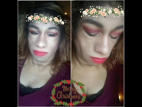 Holiday christmas makeup look ♡clover palette