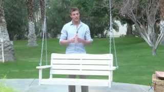 Cape Maye Weathered Porch Swing In Antique White - Product Review Video