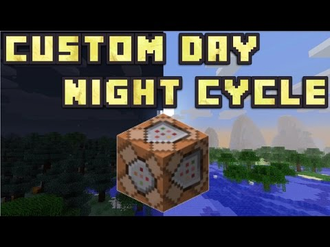 Minecraft PE - Custom Day And Night Cycle Speed With Commands!