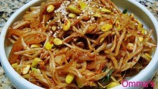 Kongnamul Bokkeum, Stir Fried Soybean Sprouts (콩나물볶음) (korean Side Dish) By Omma's Kitchen