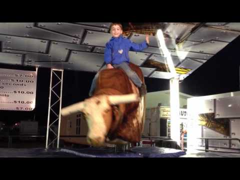 William rides the bull