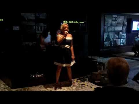 P&O Cruise Azura Sept 2017 Karaoke in Brodie's American Pie