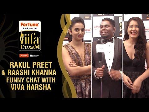 Rakul Preet and Raashi Khanna Funny Chat with Viva Harsha | IIFA Utsavam 2016 Awards