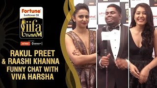 Rakul Preet and Raashi Khanna Funny Chat with Viva Harsha | IIFA Utsavam 2016 Awards