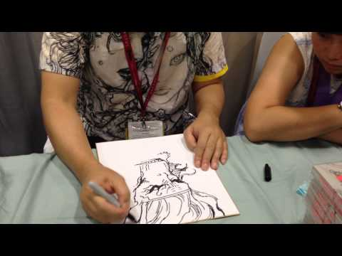 Katsuya Terada Draws the Monkey King at Comic-Con 2014