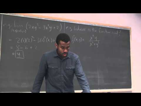Math 203 Lecture 12 - Continuity and Partial Derivatives