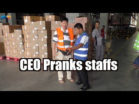 CEO Pranks company staffs. PKT...