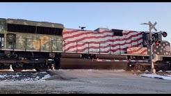 (KCS 4006, EMDX Tier 4 ACe, Clear LEDs!) KCS Mixed Freight Train - Clark Street, Vandalia, MO