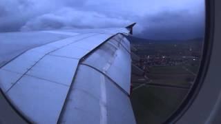 AIRBUS A380 WINDY AND HEAVY LANDING IN ZURICH