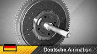 Funktion und Aufbau einer Kupplung / Einscheiben-Trockenkupplung (Animation)