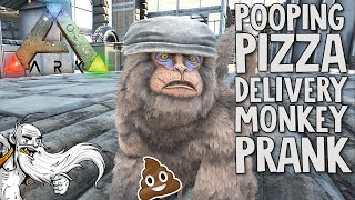 """""""POOPING PIZZA DELIVERY MONKEY PRANK!!!"""" - ARK: Survival Evolved 1080p HD Gameplay"""