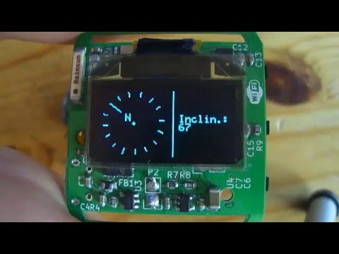 DIY ESP8266 WiFi Smartwatch: Compass Test