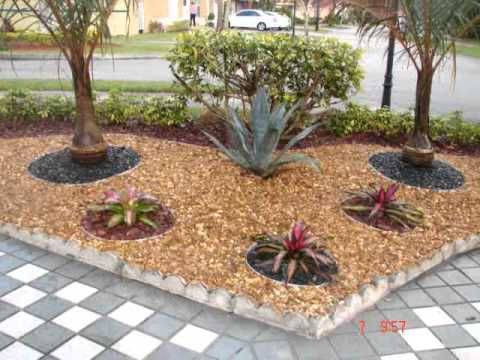 Dise o de jardines en miami youtube for Piedras de jardin decorativas