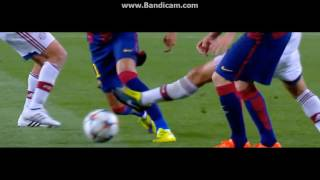 Barcelona vs Bayern München. Neymar shows skill
