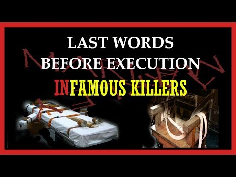 Curious Last Words From Death Row Prisioners