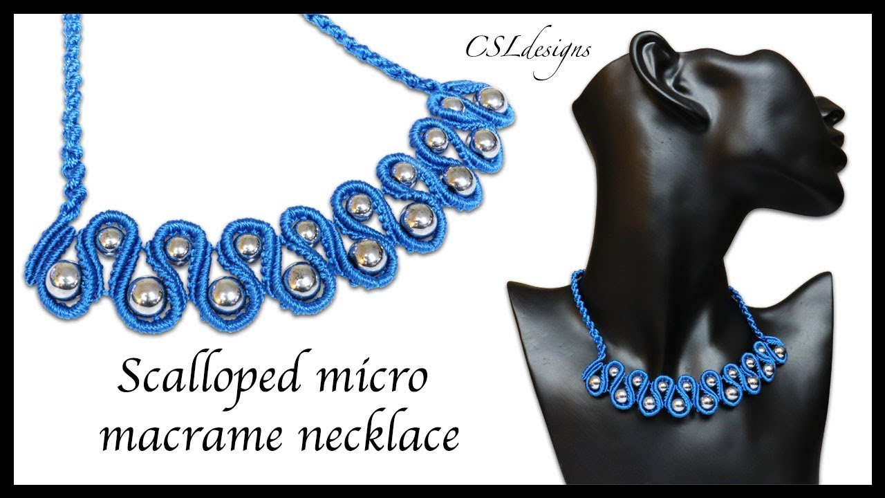 fb4a607792cf Scalloped micro macrame necklace