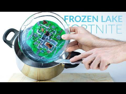 Turning Greasy Grove into Frozen Lake (Fortnite Battle Royale) – Polymer Clay Tutorial