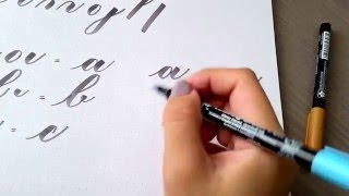Calligraphy tips: Connecting basic strokes to form letters