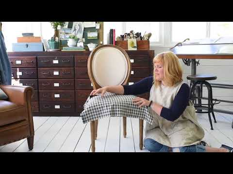 How To Make Dining Chair Slipcovers (tie On With Ruffle/pleated Skirt)