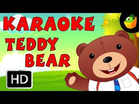 Teddy Bear - Karaoke Version With Lyrics - Cartoon/Animated English Nursery Rhymes For Kids