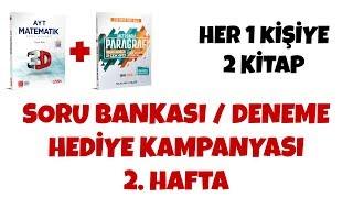 Soru Bankası / Deneme Hediye Kampanyası 2. Hafta / Her Bir Kişiye 2 Kitap