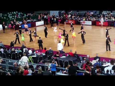 Junior Open Latin Australian Dancesport Championships Hisense Arena 2016