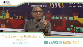 The Search For Reflections: B V Doshi on ANDC 2017