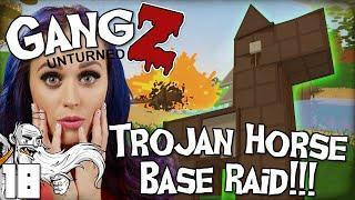 """INSANE TROJAN HORSE BASE RAID!!!"" - Unturned GangZ PvP Multiplayer Let"