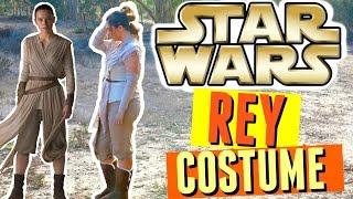 DIY REY STAR WARS COSTUME & REY HAIR TUTORIAL! DIY HALLOWEEN COSTUMES FOR GIRLS 2016!