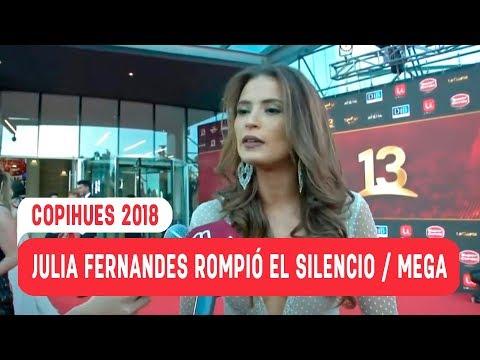 ¡Julia Fernandes rompió el silencio! / Copihues 2018 / Mega