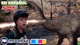 Los dinosaurios se mudan a California - 2 | @Parque de T-Rex - Dinosaurios para niños | Moonbug Kids