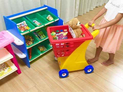 ショッピングカートでお買い物 おかし屋さん / Shopping Cart Toy : Grocery Store Snack Foods Shopping