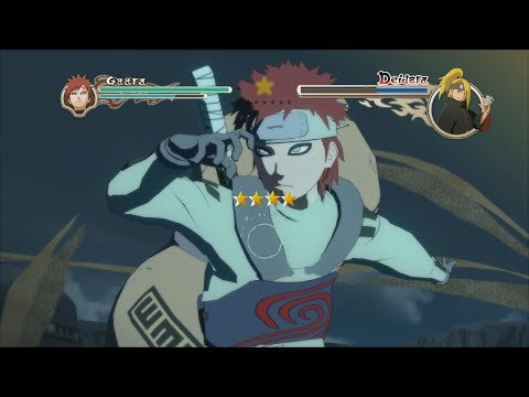Naruto Ninja Storm 2 Trilogy PC MOD Walkthrough Part 2 60 FPS - Jinchuriki Gaara vs Edo Deidara