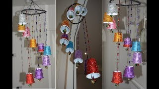 DIY wind chime | How to make wind chime with waste plastic cups