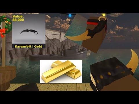Counter Blox Karambit Gold RARE KNIFE Gameplay