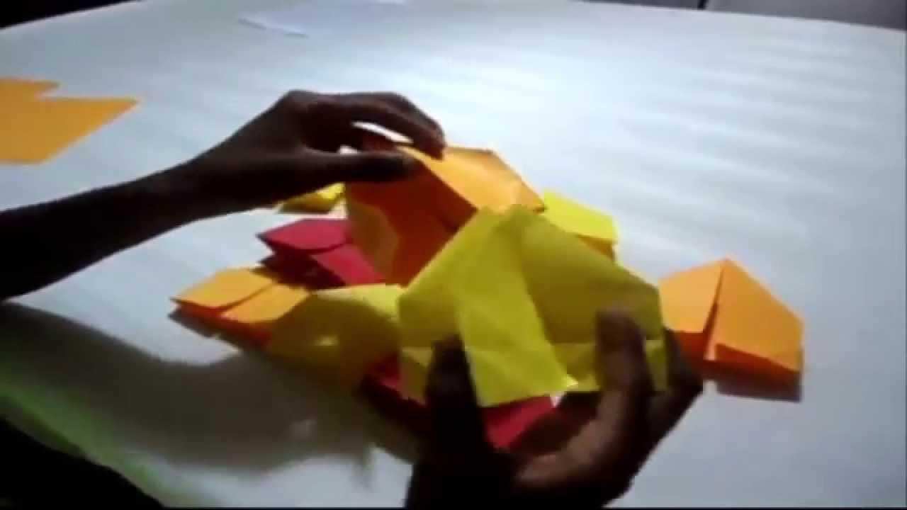 Como hacer un fuego artificial de origami y que son las for Como construir una laguna artificial