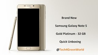 Samsung Galaxy Note 5 N920 (32GB Gold Platinum) - Unboxing