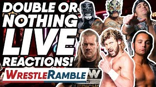 AEW All Elite Wrestling Double Or Nothing LIVE REACTIONS! | WrestleTalk's WrestleRamble