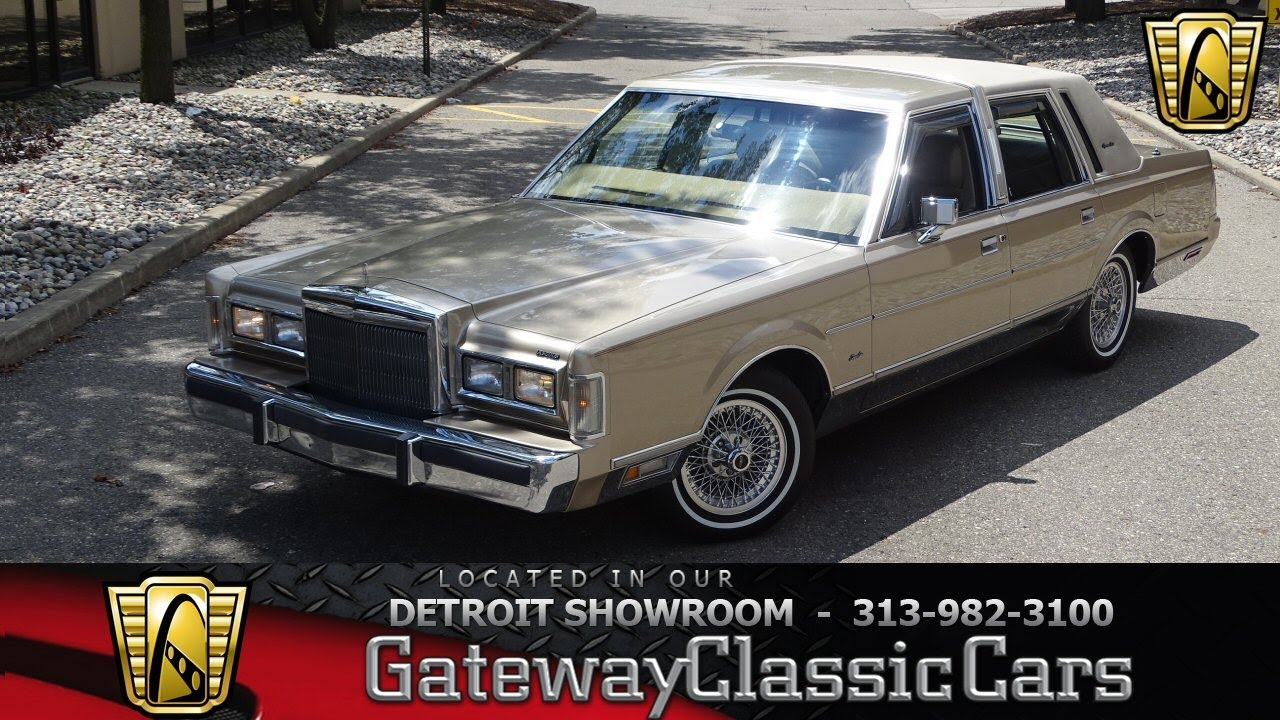 1988 Lincoln Town Car Signature Stock 973 Det Youtube