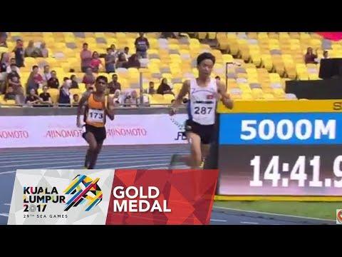 Athletics Mens 5000m Final | 29th SEA Games 2017