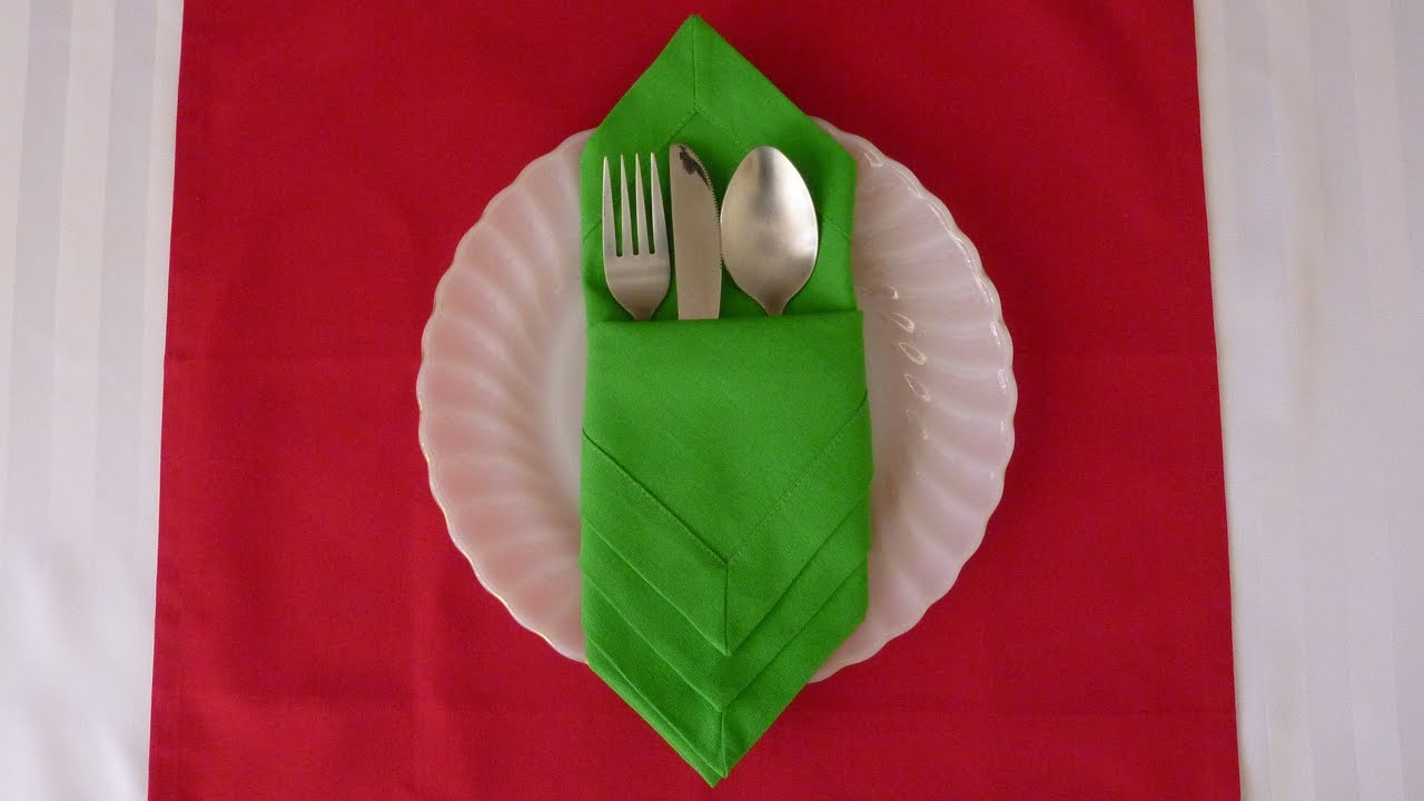 Napkin Folding - Diamond Envelope
