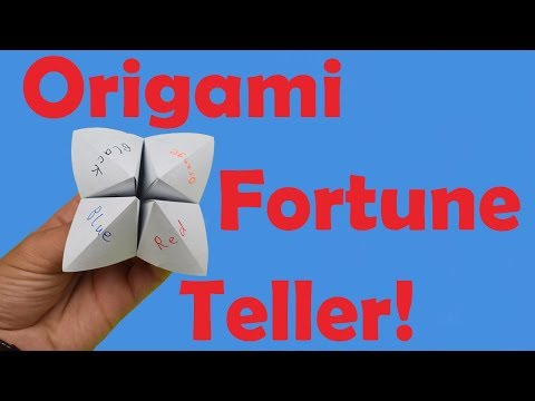 easy origami fortune teller - YouTube | 360x480