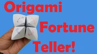 How to Fold an Origami Fortune Teller + How to Use it